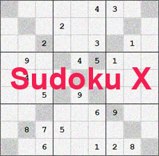 Web Diagonal Sudoku - Free X Sudoku Puzzles to Play Online